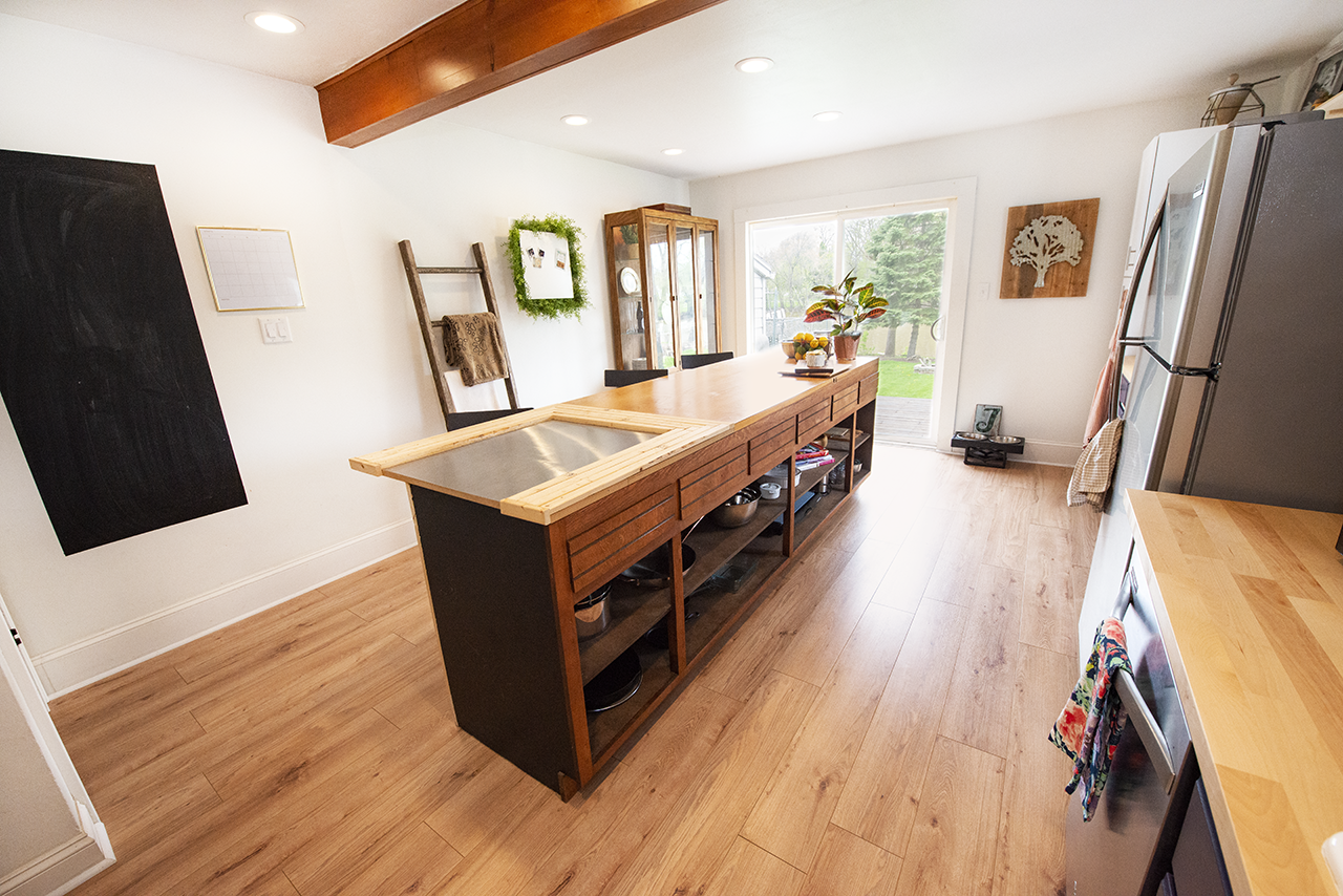 After the kitchen renovation- Little River House @beccamclaganrealestate