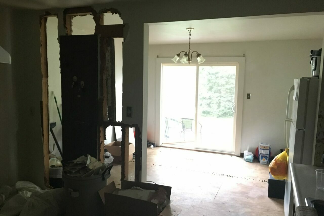 Before the kitchen renovation- Little River House @beccamclaganrealestate