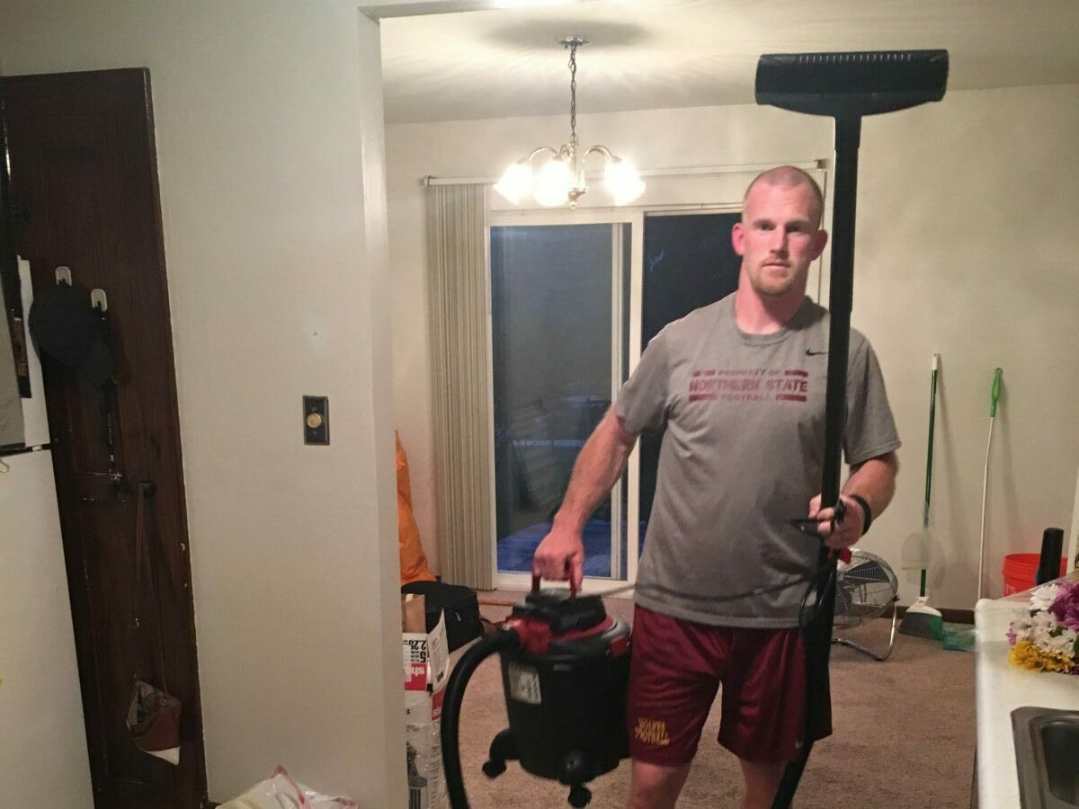 Ripping out carpet at little river house